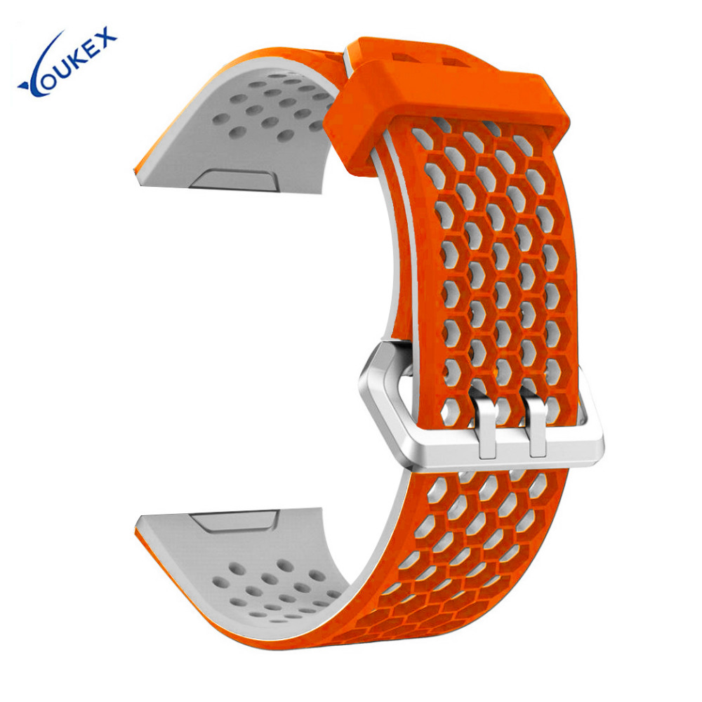YOUKEX Lightweight Silicone Band for Fitbit Ionic Replacement Watch Strap for Fitbit Ionic jansin 22mm watchband for garmin fenix 5 easy fit silicone replacement band sports silicone wristband for forerunner 935 gps