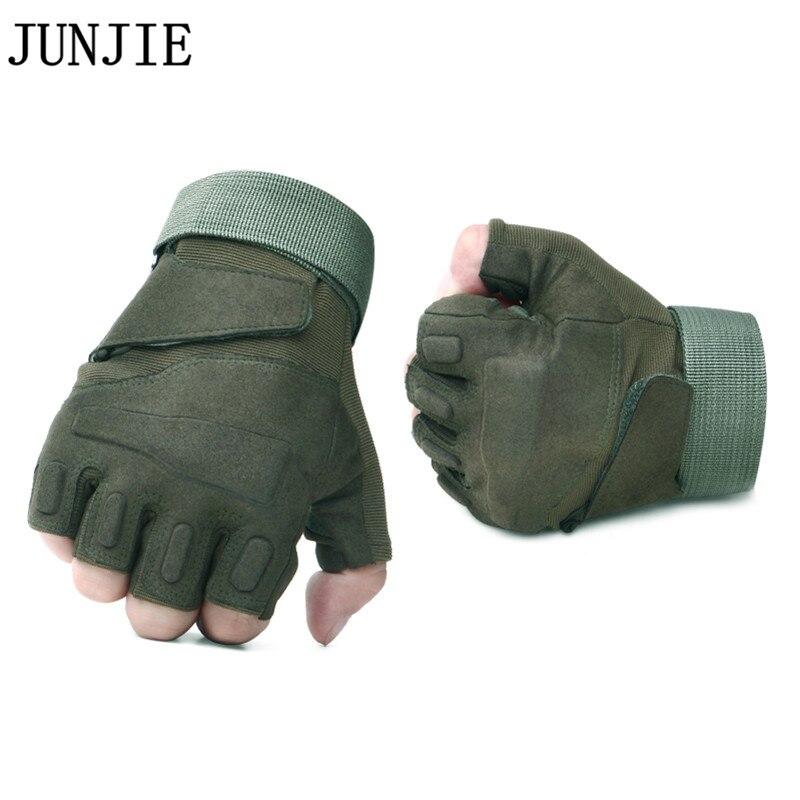 Offre spéciale Sports de plein air gants tactiques escalade Blackhawk Forces spéciales glisser randonnée en plein air combat demi-doigt gants 10 paire