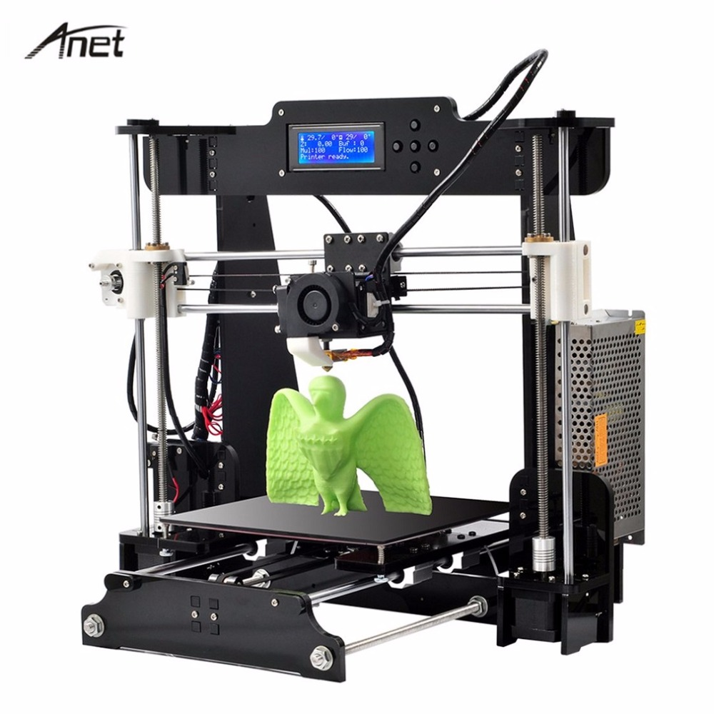 Anet A8 Desktop 3D Printer Prusa i3 DIY Kit LCD Screen Large Printing Size Electronic Imprimante High Precision 3D Printer ...