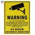 24 ЧАС SurveilIance Внимание CCTV Камеры Наклейки Знаки Наклейки 250 ММ х 200 ММ