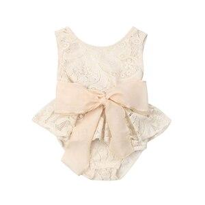 Милый боди цветочное кружево для новорожденных девочек, детский пляжный костюм с бантом, комбинезоны, Одежда для новорожденных, боди для но...