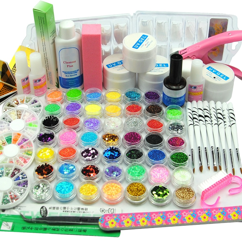 Nail Art Tool Kit: Nail Art Manicure Kit Nail Glitter Powder Decoration Pen