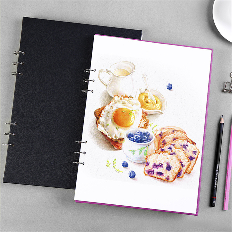 A4 Schetsboek Dagboek Spiraal Tekening Papier Marker Pad Graffiti - Notitieblokken en schrijfblokken bedrukken - Foto 4