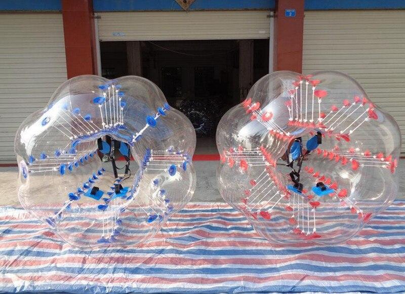 7bcab4c591 ᗐ4 pcs 1.2 M PVC Inflável Bolha Bola De Futebol De Futebol