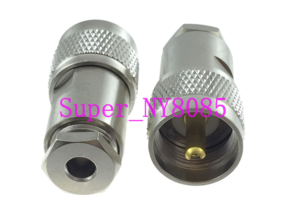 1pce Connector UHF PL259 Male Plug Clamp RG58 RG142 LMR195 RG400 Cable Straight(China)