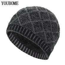 YOUBOME Fashion Skullies Beanies Men Winter Knitted Hats For