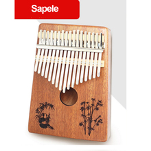 17 Key Kalimba 17 African Thumb Piano Finger Percussion Keyboard Sapele Solid Wood