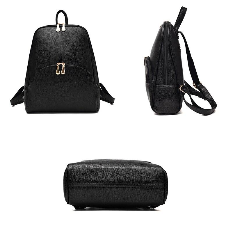 HTB10HhOS9zqK1RjSZFjq6zlCFXav Nevenka Leather Backpack Women Solid Backpacks Light Weight Bag Cute Top Handle Backpacks for Girls Mini Backpack Female Bagpack