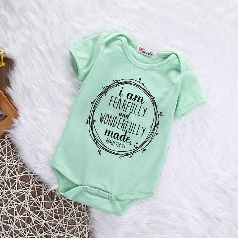 US STOCK ทารกแรกเกิดเด็กทารกเด็กผู้หญิงบอดี้สูท Ligth สีเขียวสีดำ Art ตัวอักษรบอดี้สูทผ้าฝ้ายแขนสั้นชุดเสื้อผ้า Jumpsuit