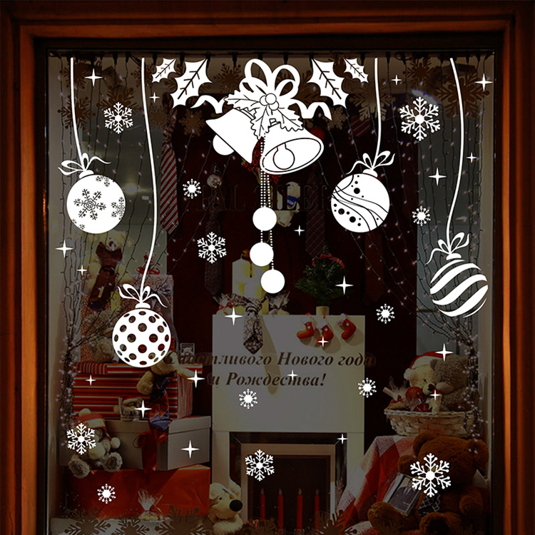Christmas Decorations Wall Stickers Glass Door Stickers Shop Window