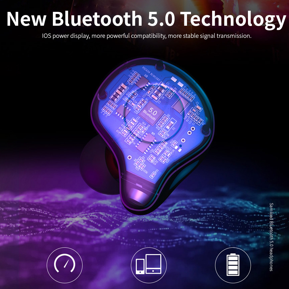 Bluetooth 5.0 Earphones True Wireless Stereo Earphone Fashion 4D Sound Earbud with Support Wireless Charging box For Smart Phone