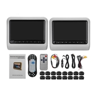 Car Headrest Display 9 Inch Dvd + Remote Control Av Player with Car Pillow Line Kit Universal Lcd Display