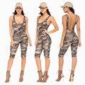 Горячая 2016 Sexy Women Комбинезоны модели взрыва сексуальная камуфляж комбинезоны брюки Комбинезон Бинты Club Macacoes monos