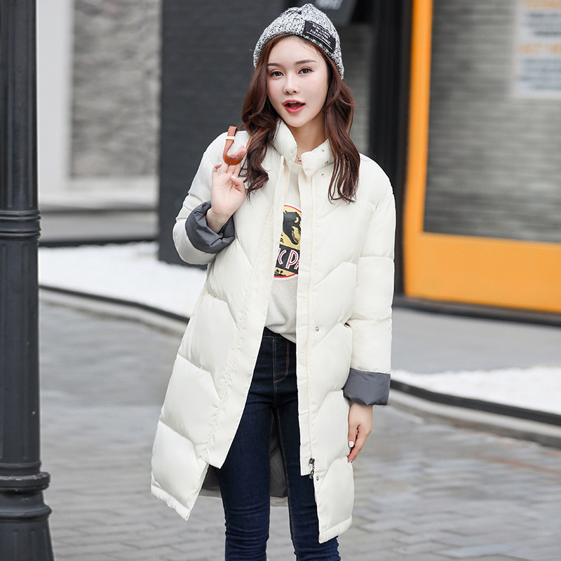 OLIVARF Women parkas 2017 New Fashion Winter Hooded Thick Warm Medium long Down Cotton Coat Long sleeve Slim Big yards Coat 2017 new winter fashion women parkas hooded thick super warm medium long coat casual slim big yards cotton padded jacket nz308