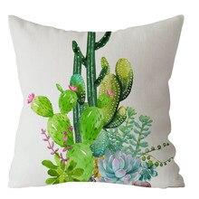 Gajjar, новое растение из тропического леса, полиэстер, наволочка для дивана, Зеленый лист, геометрическое украшение, наволочка, чехол для подушки на стул