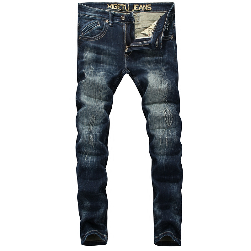 Blue Color Denim Men Jeans High Quality Stripe Jeans Mens Pants Slim Fit Embroidery Pocket Skinny Jeans Men Street Trousers men s cowboy jeans fashion blue jeans pant men plus sizes regular slim fit denim jean pants male high quality brand jeans