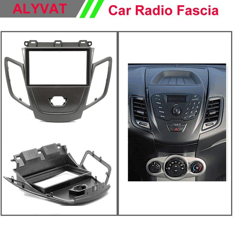 Auto Radio Rahmen Facia für FORD Fiesta 2008 + wo/display (Schwarz ...