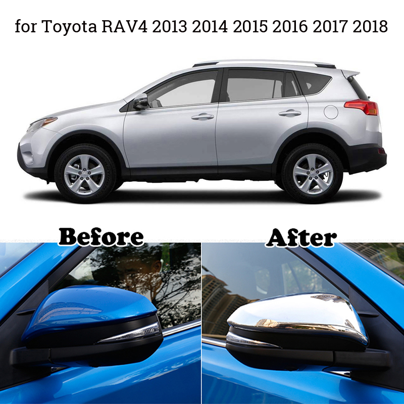 For Toyota RAV4 2013 2018 Covers Replacement Car Tool Kit Engine For Toyota Trim Hot Sale High Quality in Mirror Covers from Automobiles Motorcycles