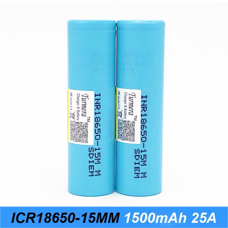 original battery 18650 15M inr18650-15M 1500mah 25A for power tools screwdriver battery and E-cig battery for Turmera jun23