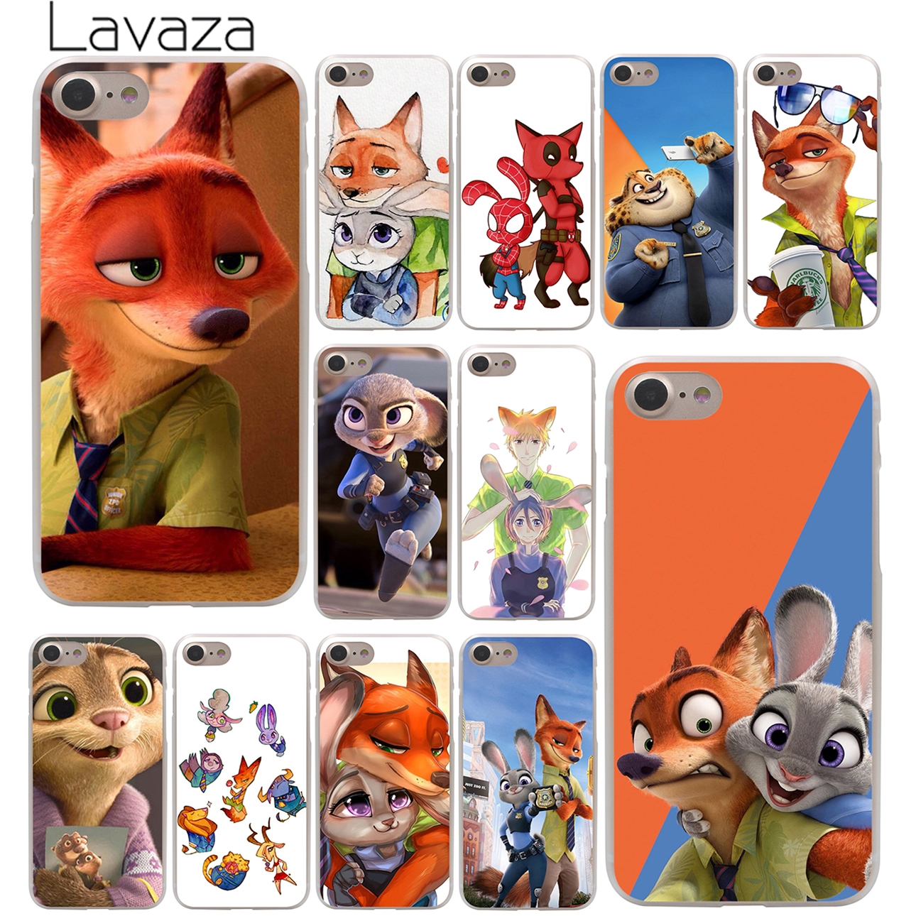 Galleria fotografica Lavaza New Lovely Crazy Zootopia Rabbit Hard Phone Cover Case for Apple iPhone 10 X 8 7 6 6s Plus 5 5S SE 5C 4 4S Coque Shell