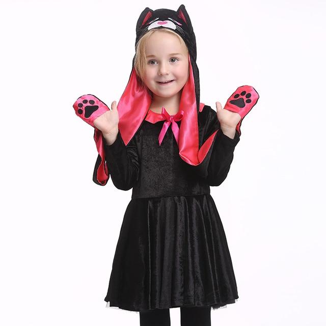 2017 Hot Animal Cosplay Costume Cat Halloween Costume Kids Girl ...