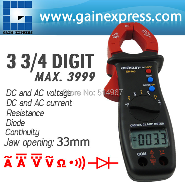 Digital Clamp Meter Multimeter DC AC Voltage Current Resistance Diode Continuity Tester 33mm Jaw Opening игорь михалков восход
