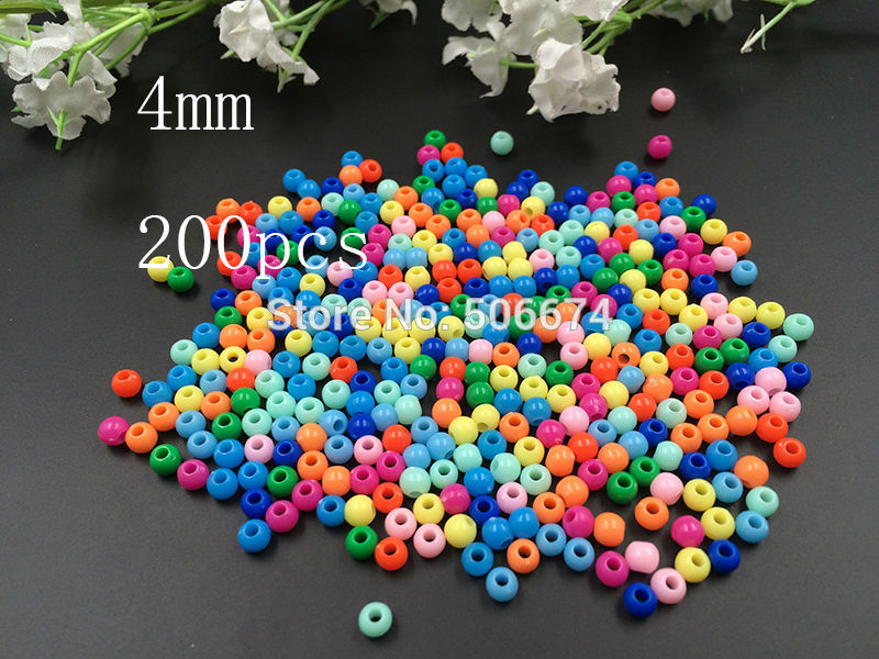 Jewelry & Accessories Jhnby Top Quality 250pcs Mixed Candy Light Color Acrylic Cream Beads Neon Smooth 6mm Round Loose Beads Fit Jewelry Handmade Diy Clients First
