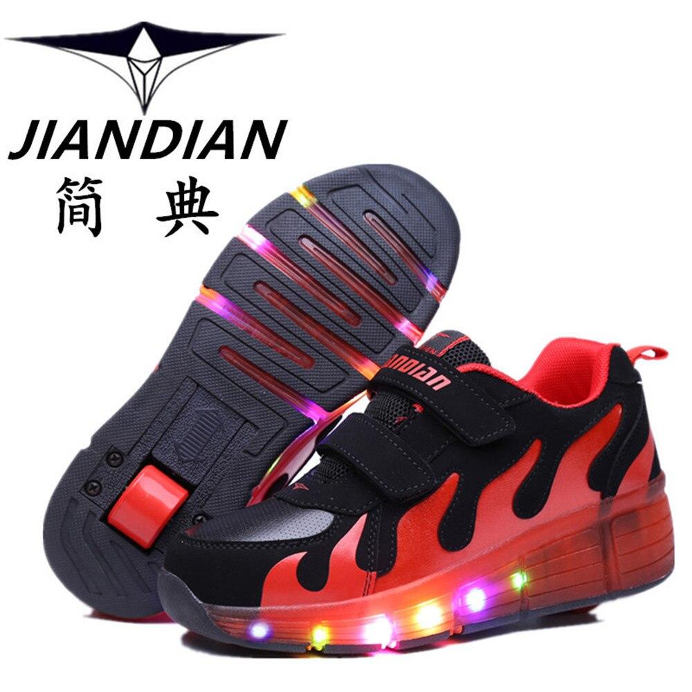 Pop out roller skate shoes - Heelys 2016 Hot New Child Led Junior Girls Boys Children Roller Skate Shoes Kids Sneakers