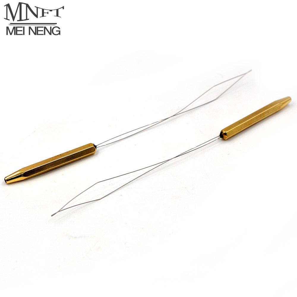 MNFT 1PCS Extra-long Brass Bobbin Threader Fly Tying Tool Half Hitch Handle Tool Fly Fishing Thread