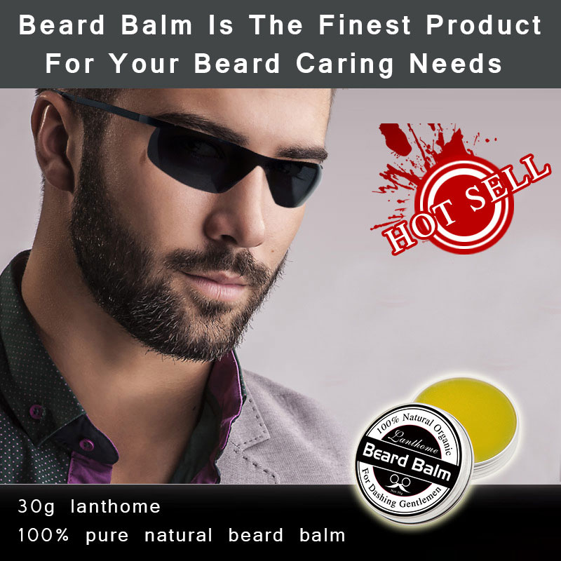 1 PCS Profession Men Beard Care Cream Moustache Beard Balm Natural Organic Treatment for Beard Growth Grooming Care Aid 30g H7JP 1