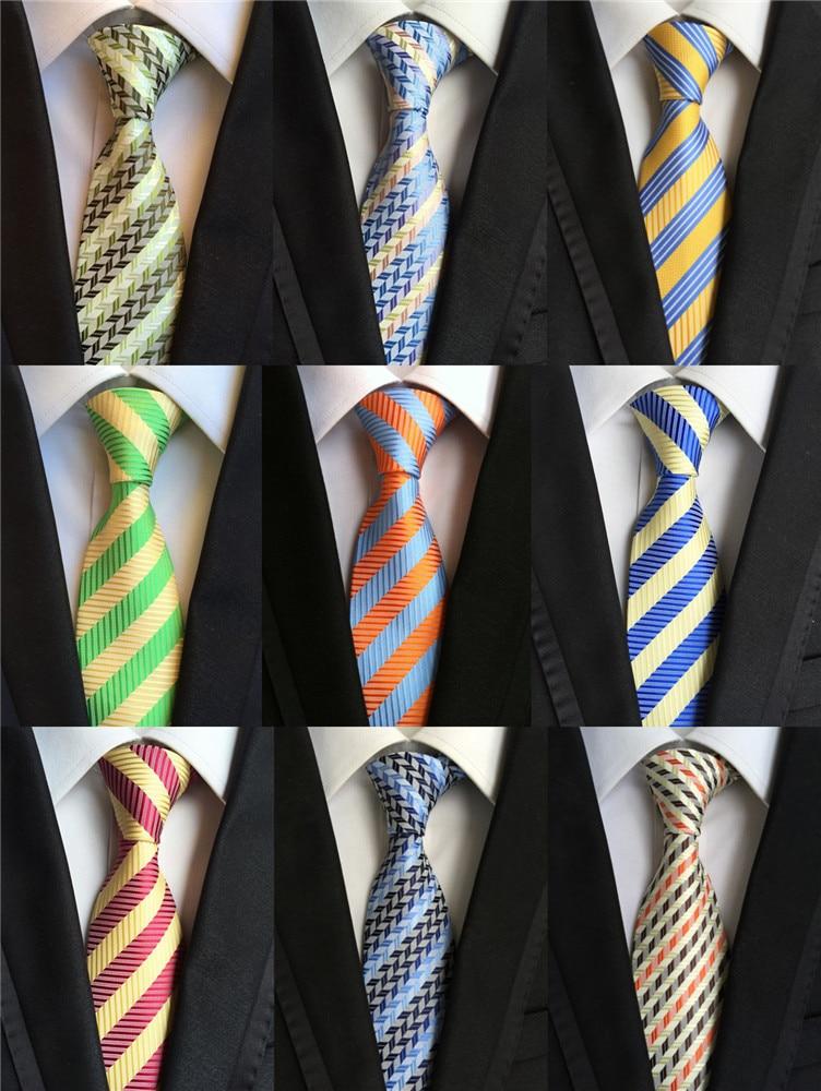 Hot 100% Silk Stripe Ties Mens
