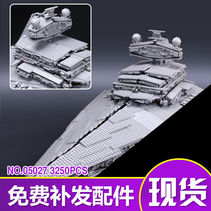 3250pcs LEPIN 05027 Star Fighters Starship destroyer Building Blocks Bricks wars Assemble Compatible 10030 birthday christmas high quality 21 fret glossy canadian maple u profile st strat guitar neck with vintage 8mm tuner holes abalone inlay bone nut