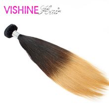 Popular 1Pc Ombre Brazilian Virgin hair Straight 613 Ombre Hair Weave Bundles Cheap Ms Lula Hair Ombre Brazilian Hair Extension