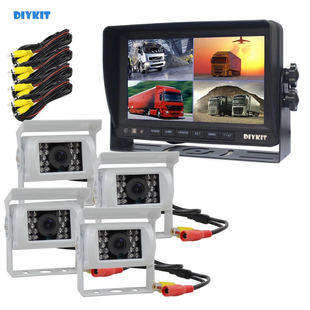 "4.3/"" Monitor+24v//12v CCD LED Reversing Camera Car Caravan Truck Night Vision KIT"