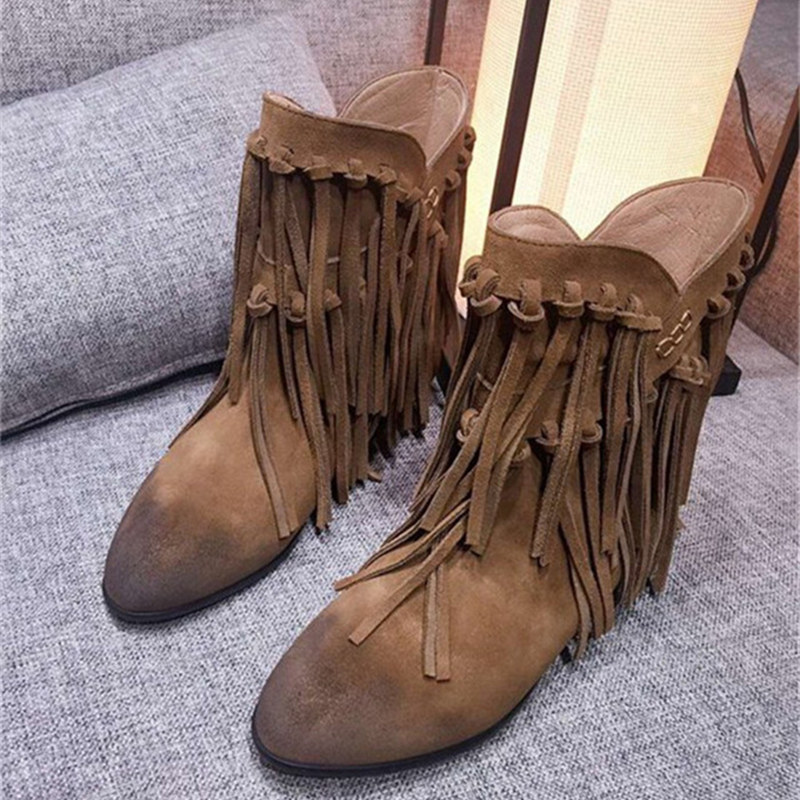 Popular Fringed Ankle Boots-Buy Cheap Fringed Ankle Boots lots ...