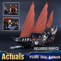 Nuevo 756 Unids Lepin 16018 Genuino de El señor de los anillos de Serie El Fantasma Barco Pirata Conjunto de Bloques de Construcción de Ladrillo Juguetes 79008