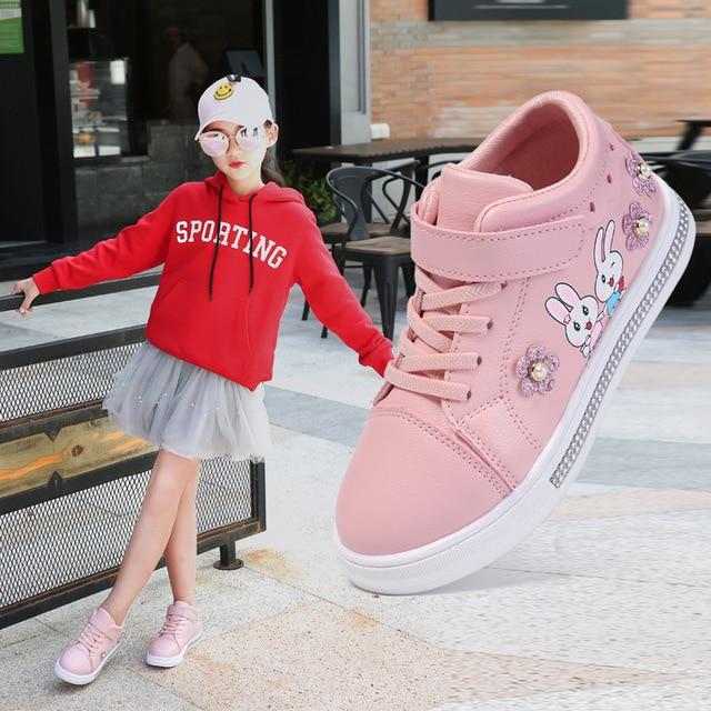 KRIATIV מהיר חינם האיחוד האירופי גודל 27-37 ילד פעוט ילדה סניקרס חמוד ילדי כותנה נעלי בית ורוד תינוק נעליים