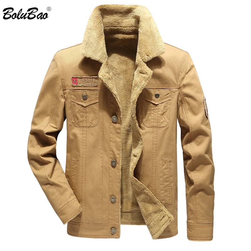 BOLUBAO Fashion Brand Winter Men Jackets Coat New Mens Solid Color Military Style Cotton Jackets Male Warm Thick Jacket Coats