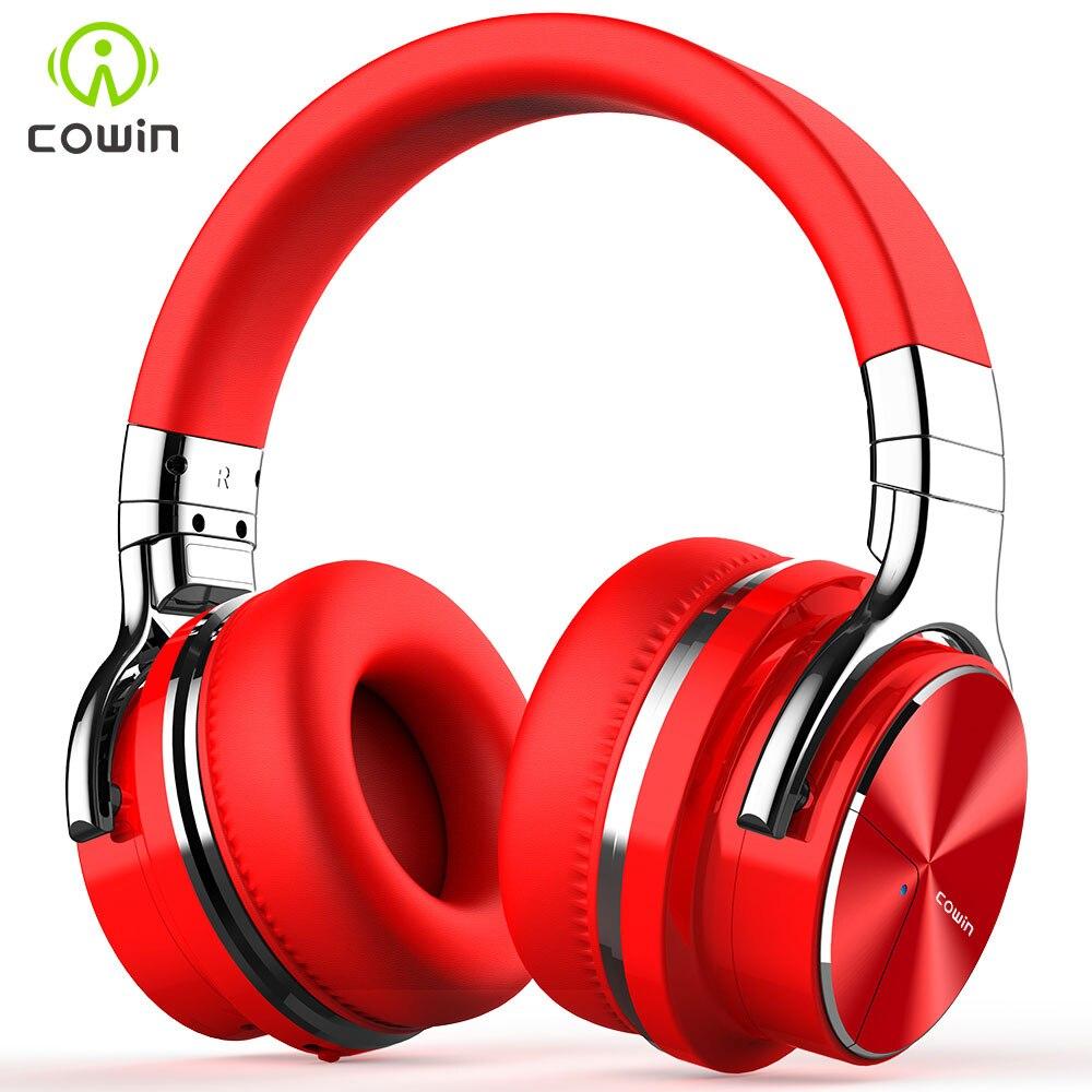 Cowin E7-PRO ANC Active Noise Cancelling Fones De Ouvido Bluetooth Fone De Ouvido Sem Fio Bluetooth fone de ouvido com Microfone para telefones