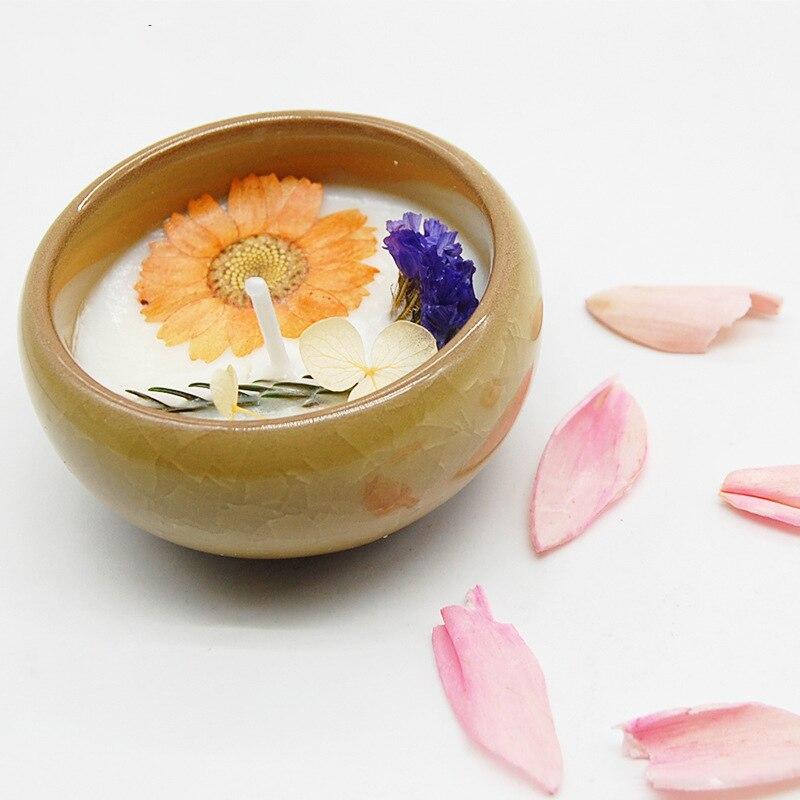 CHUANGGE 2 Stück Duftkerzen Soja Wachs Geburtstagsgeschenk Aromatherapie  Romantischen Duft Hause Dekorative Hochzeit Kerzen Lotus Blume In CHUANGGE  2 Stück ...