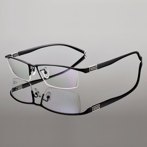 Image 3 - 유연한 템플 암이있는 reven jate 티타늄 합금 프론트 림 안경 프레임 3 가지 옵션 색상의 반 무테 안경 프레임