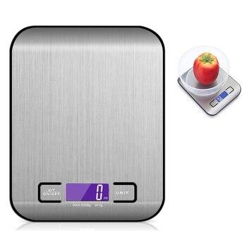 Digital Multi-funktion Küche Skala Elektronische Lebensmittel Waage, Edelstahl, 11lb 5 Kg Plattform Mit LCD Display (Silber)