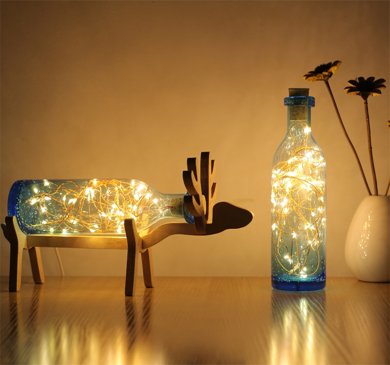 Led lamp energy saving night light hand bubble glass deer lights Nordic Christmas gifts CL yimia creative 4 colors remote control led night lights hourglass night light wall lamp chandelier lights children baby s gifts