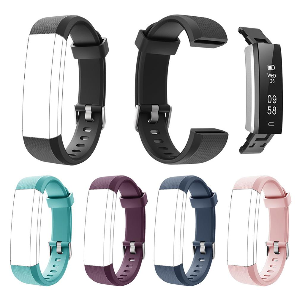 Id115u Watch With Bracelet Silicone Replacement Strap Soft Scratch Resistant Wrist Band Watchband For ID115 Plus Fitness Tracker
