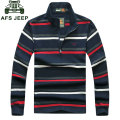 CLOTHES Brand Clothes 2017 Autumn Casual Green Men's Polo Shirts Striped Patchwork Cotton Long Sleeve Shirt Tops Tees Clothes