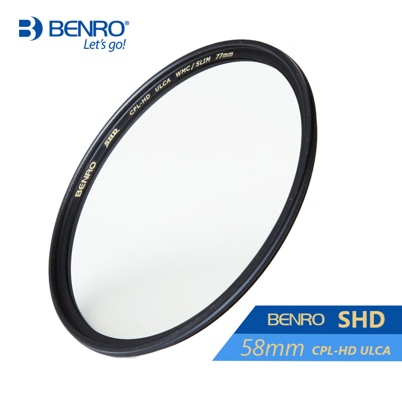 Benro 58mm CPL Filter SHD CPL-HD ULCA WMC/SLIM Filters Waterproof Anti-oil Anti-scratch Circular Polarizer Filter Free Shipping benro 82mm pd cpl filter pd cpl hd wmc filters 82mm waterproof anti oil anti scratch circular polarizer filter free shipping