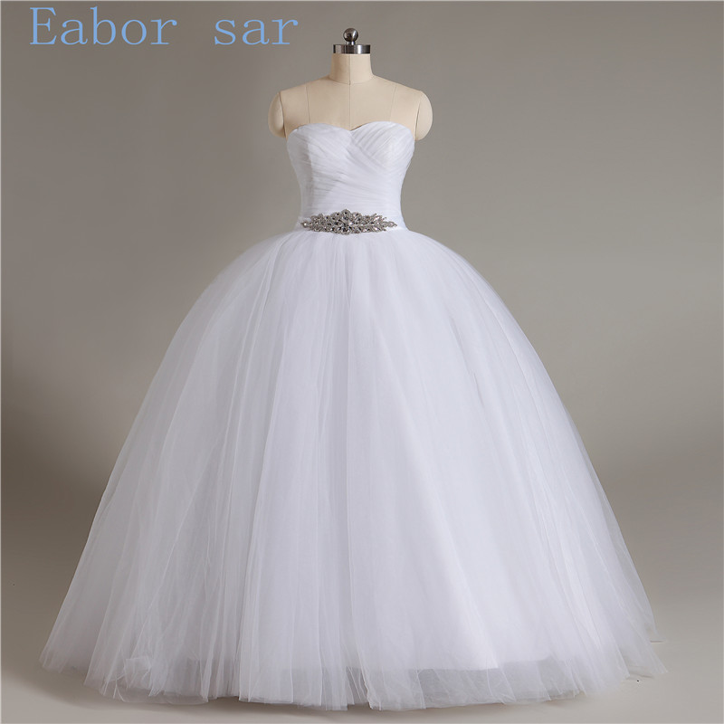 Free shipping 2017 new arrival bridal white ivory wedding for White or ivory wedding dress