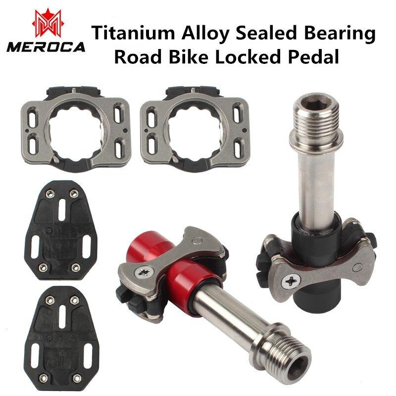 Vélo de route à pédale de verrouillage en titane ultraléger trois pédales auto-bloquantes à roulement scellé avec plaquettes de verrouillage