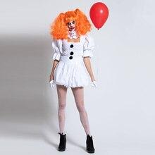 Vasashejiang белый стивен кинг это косплей костюм взрослый Pennywise костюм женский сексуальный клоун костюм для хэллоуина наряд костюм