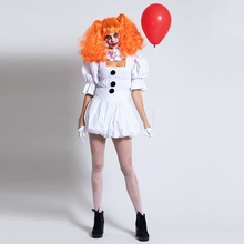 Costume Adult Outfit VASHEJIANG Women Suit It Cosplay Sexy Clown Halloween King's White